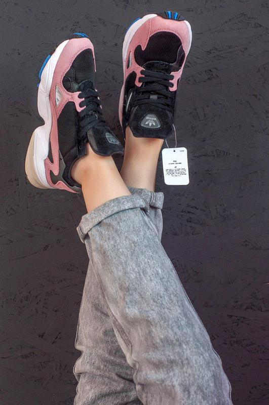 Женские кроссовки adidas falcon pink/ black 😍 (весна/ лето/ ос... - Фото 4