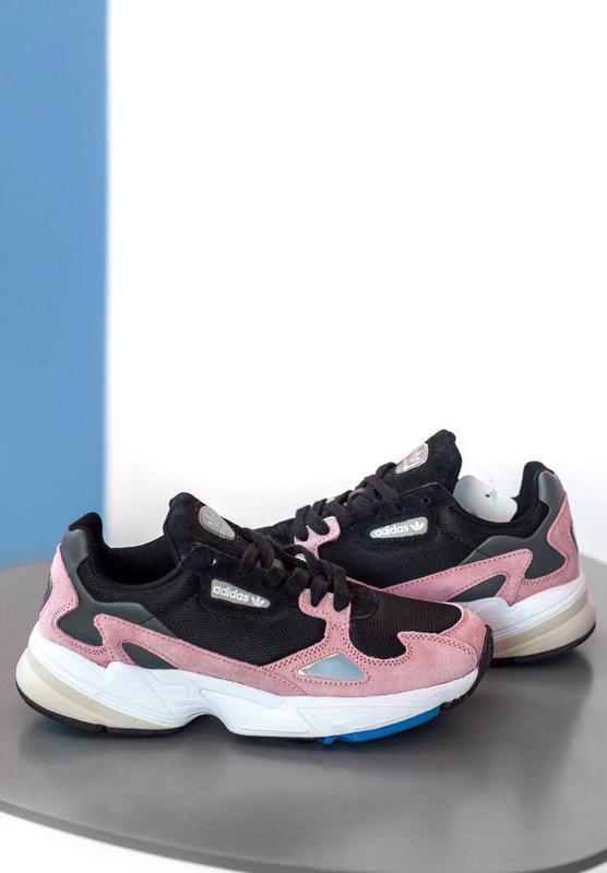 Женские кроссовки adidas falcon pink/ black 😍 (весна/ лето/ ос... - Фото 6
