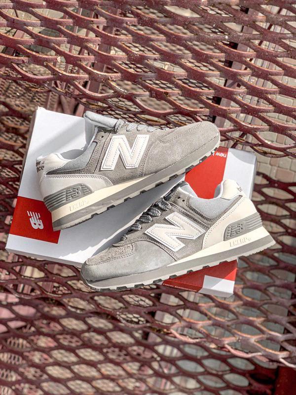Шикарные женские кроссовки new balance 574 gray 😍 (весна/ лето... - Фото 6