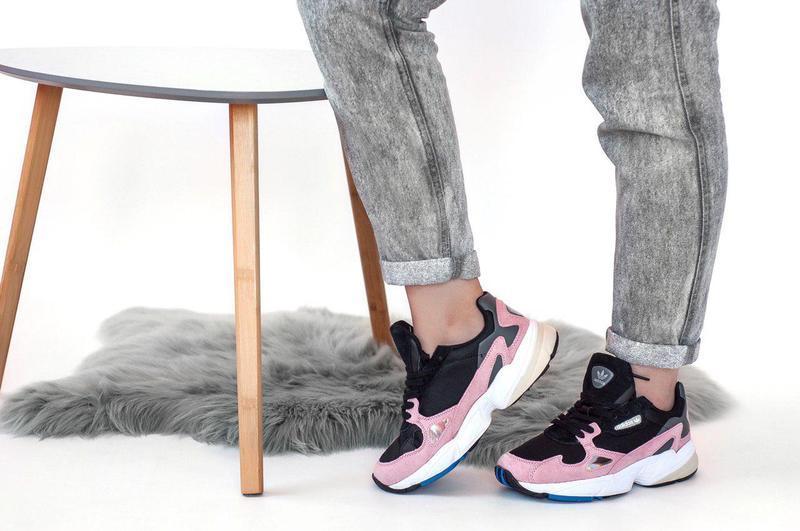 Женские кроссовки adidas falcon pink/ black 😍 (весна/ лето/ ос... - Фото 7