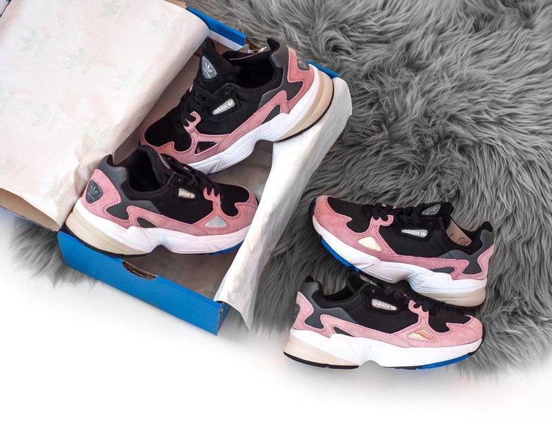 Женские кроссовки adidas falcon pink/ black 😍 (весна/ лето/ ос... - Фото 8