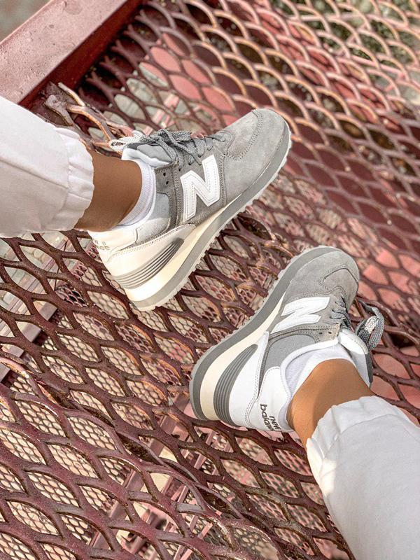 Шикарные женские кроссовки new balance 574 gray 😍 (весна/ лето... - Фото 7