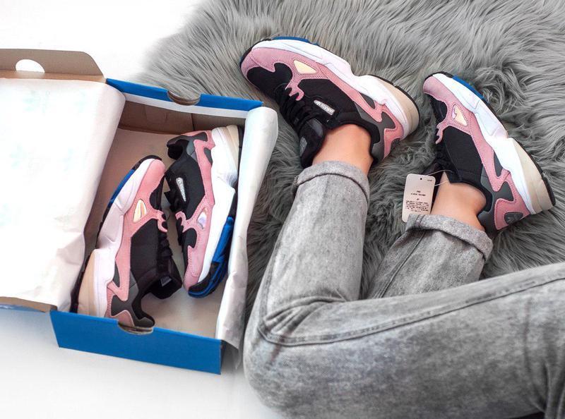 Женские кроссовки adidas falcon pink/ black 😍 (весна/ лето/ ос... - Фото 9