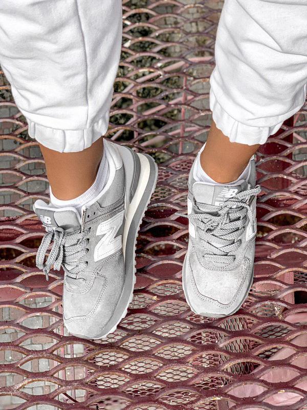 Шикарные женские кроссовки new balance 574 gray 😍 (весна/ лето... - Фото 8