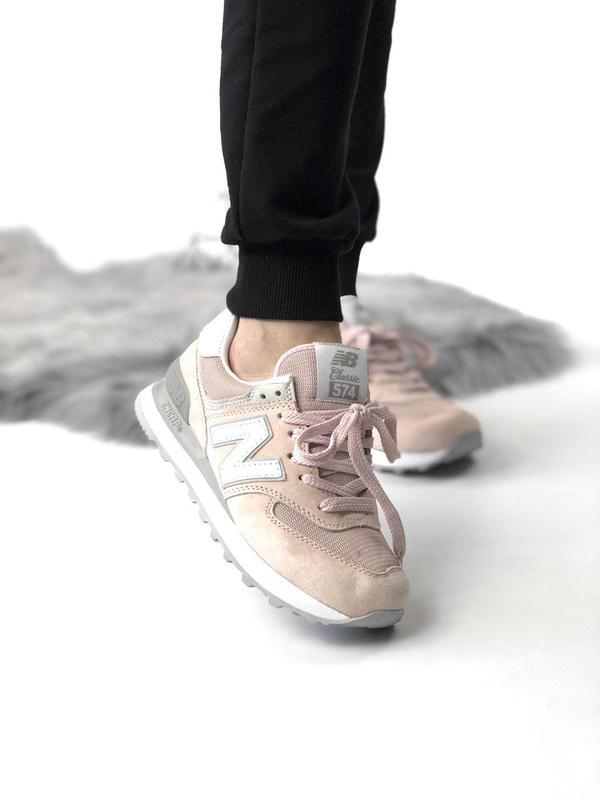 Шикарные женские кроссовки new balance 574 pink 😍 (весна/ лето...