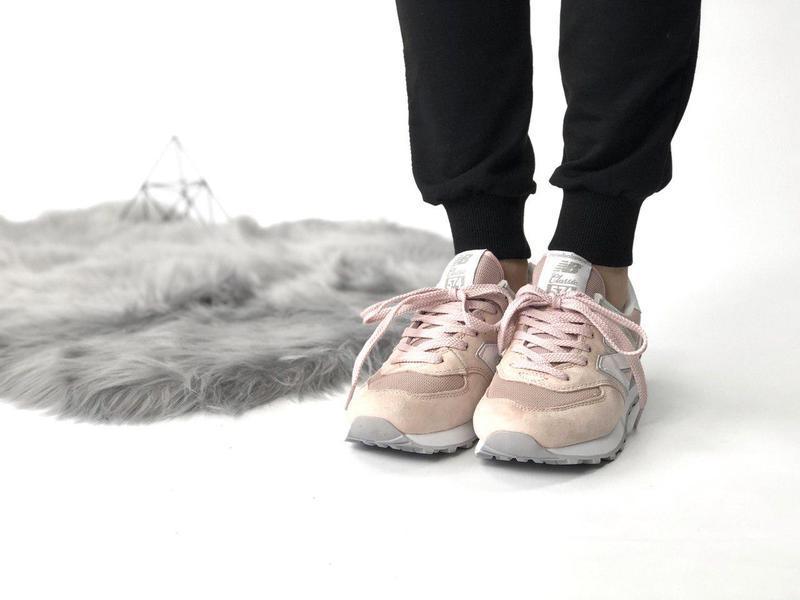 Шикарные женские кроссовки new balance 574 pink 😍 (весна/ лето... - Фото 2
