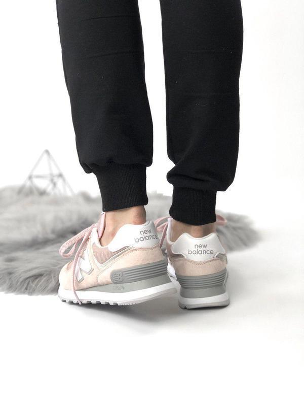 Шикарные женские кроссовки new balance 574 pink 😍 (весна/ лето... - Фото 3