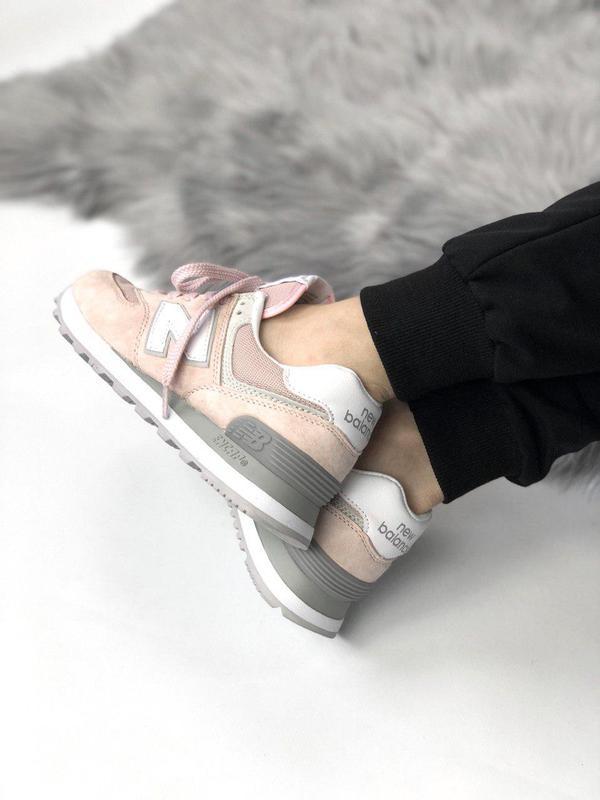 Шикарные женские кроссовки new balance 574 pink 😍 (весна/ лето... - Фото 4