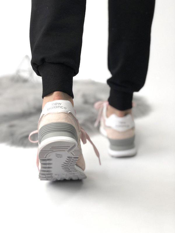 Шикарные женские кроссовки new balance 574 pink 😍 (весна/ лето... - Фото 5
