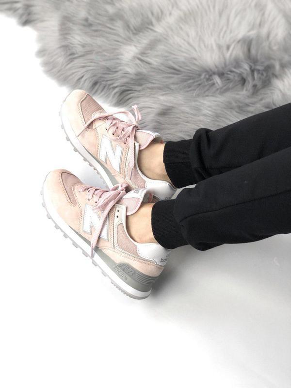 Шикарные женские кроссовки new balance 574 pink 😍 (весна/ лето... - Фото 6