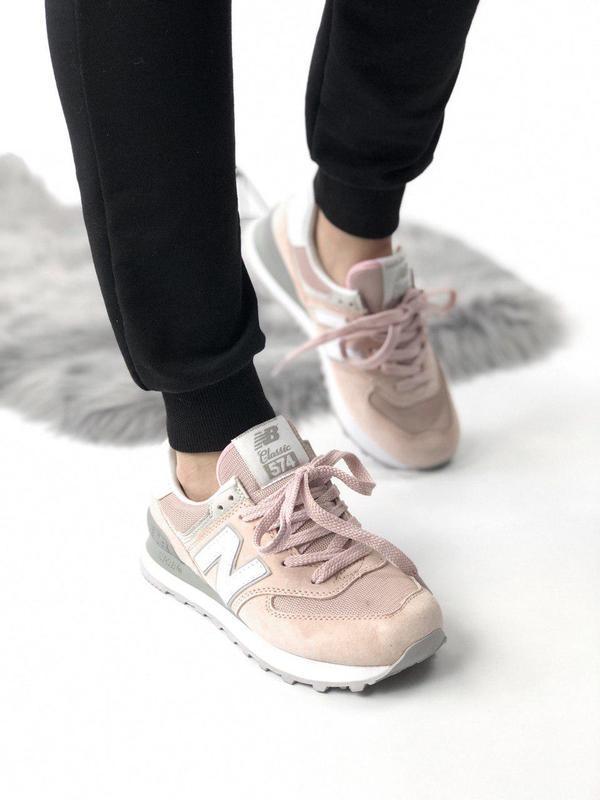 Шикарные женские кроссовки new balance 574 pink 😍 (весна/ лето... - Фото 7