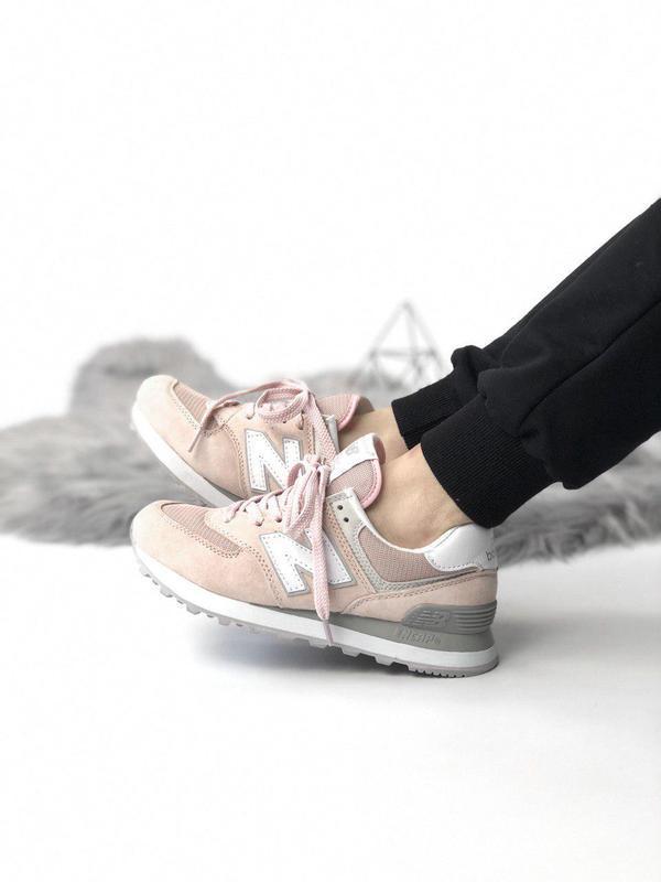 Шикарные женские кроссовки new balance 574 pink 😍 (весна/ лето... - Фото 9