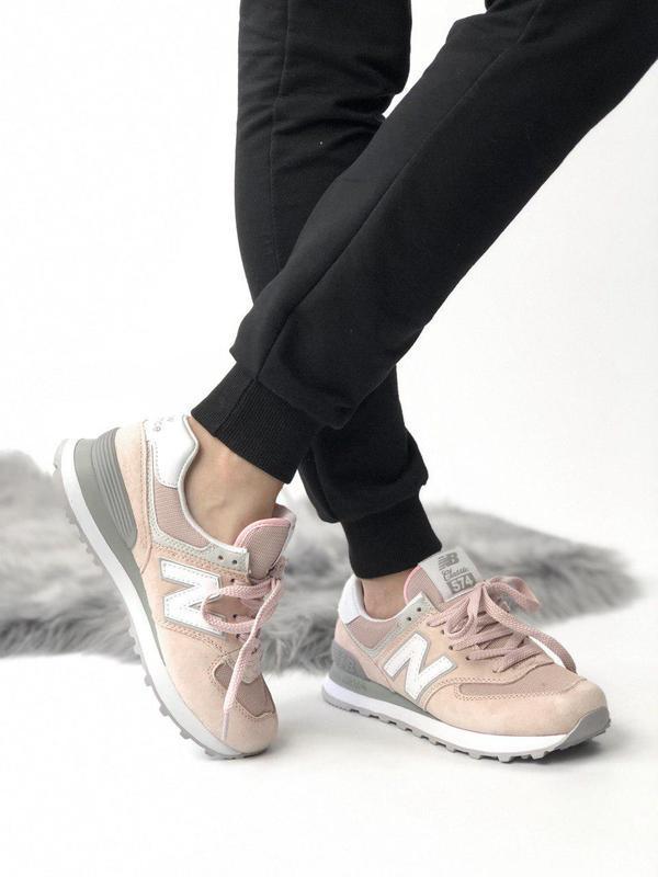 Шикарные женские кроссовки new balance 574 pink 😍 (весна/ лето... - Фото 10