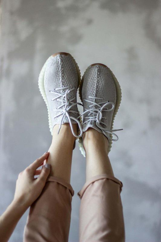 Шикарные кроссовки унисекс adidas yeezy boost v2, «sesame» 😍 (... - Фото 8