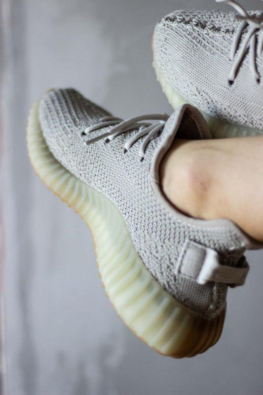 Шикарные кроссовки унисекс adidas yeezy boost v2, «sesame» 😍 (... - Фото 9