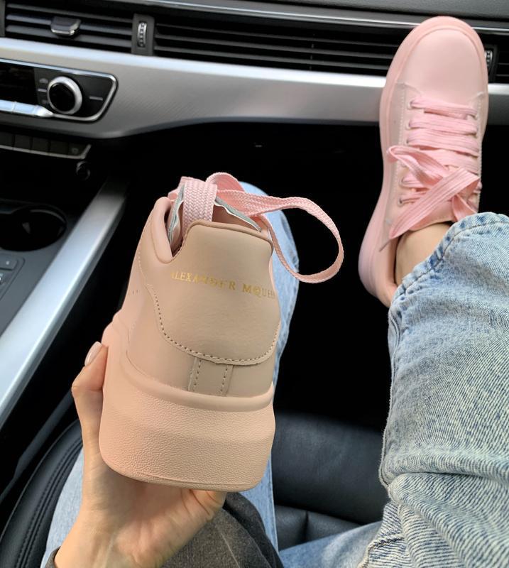 Шикарные женские кроссовки alexander mcqueen pink  😍 (весна/ л... - Фото 2