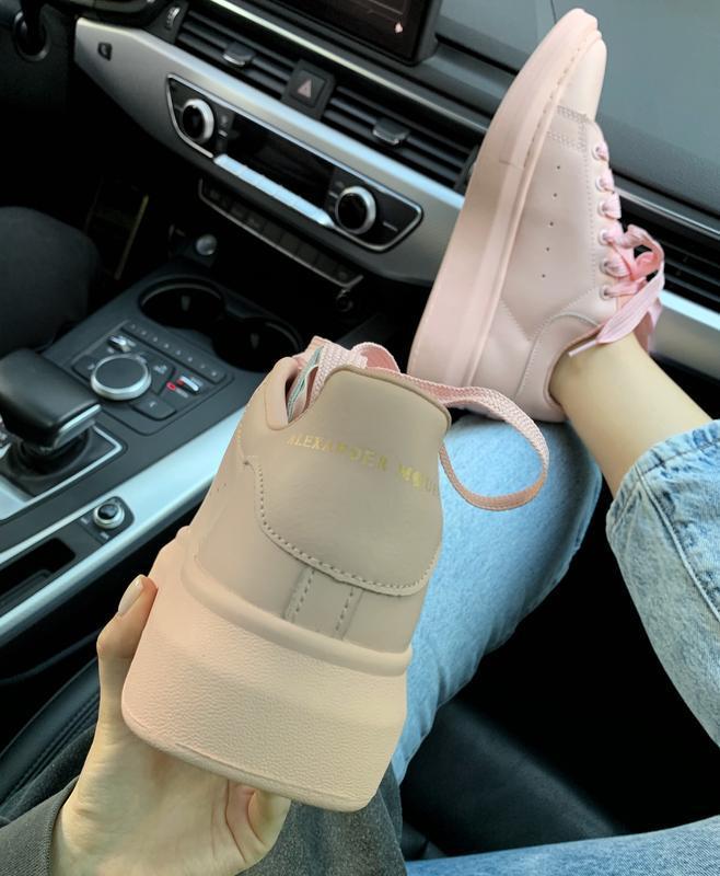 Шикарные женские кроссовки alexander mcqueen pink  😍 (весна/ л... - Фото 3
