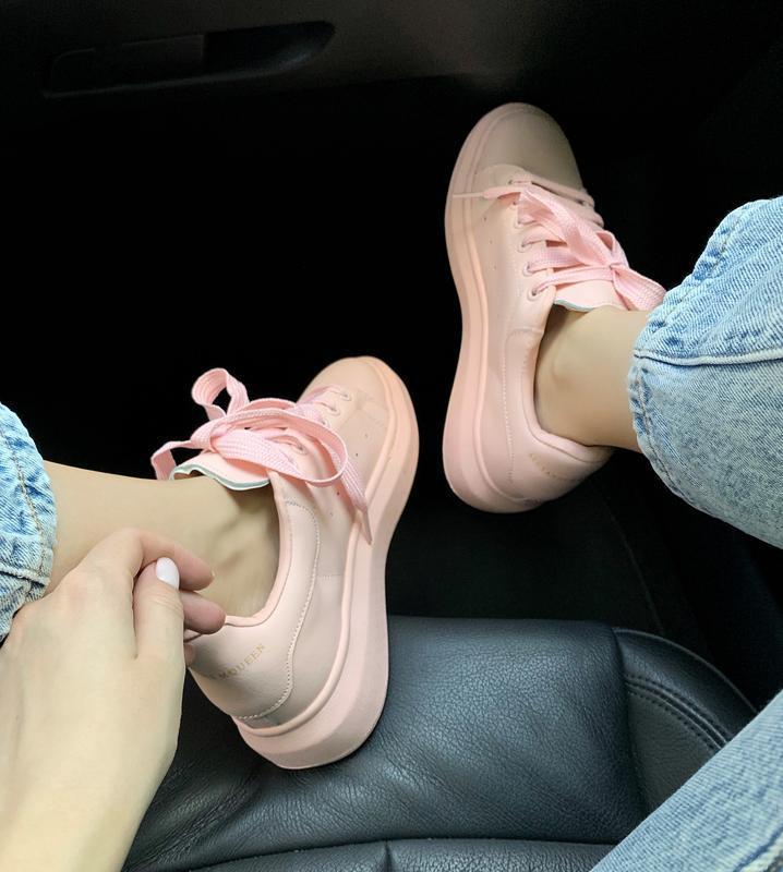 Шикарные женские кроссовки alexander mcqueen pink  😍 (весна/ л... - Фото 4