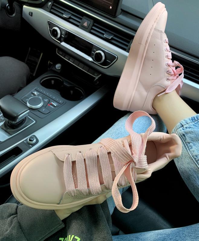 Шикарные женские кроссовки alexander mcqueen pink  😍 (весна/ л... - Фото 5