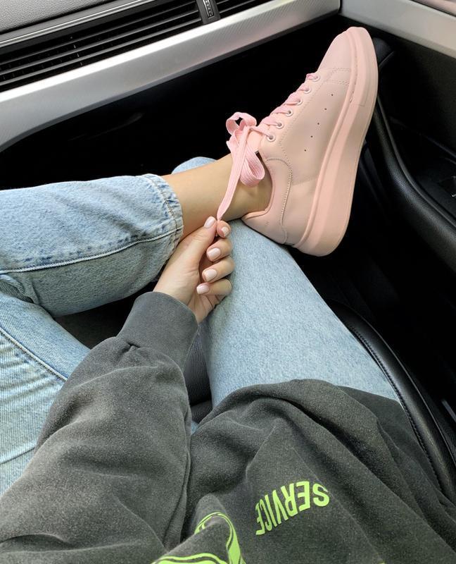 Шикарные женские кроссовки alexander mcqueen pink  😍 (весна/ л... - Фото 6