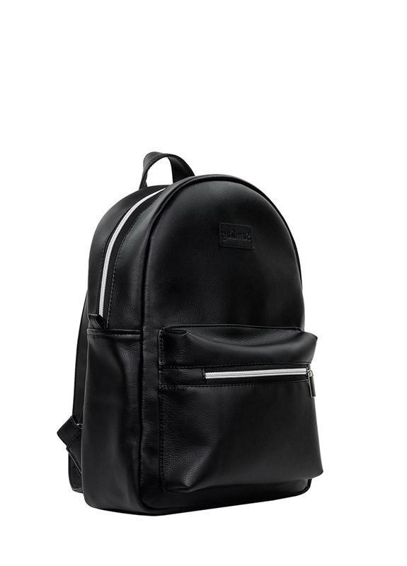 Надежный мужской стильный черный рюкзак для универа