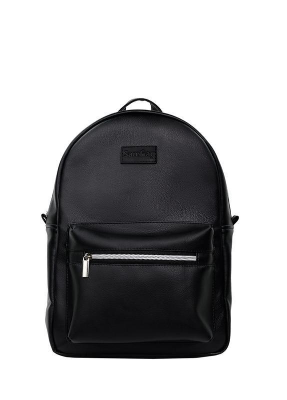 Надежный мужской стильный черный рюкзак для универа - Фото 3