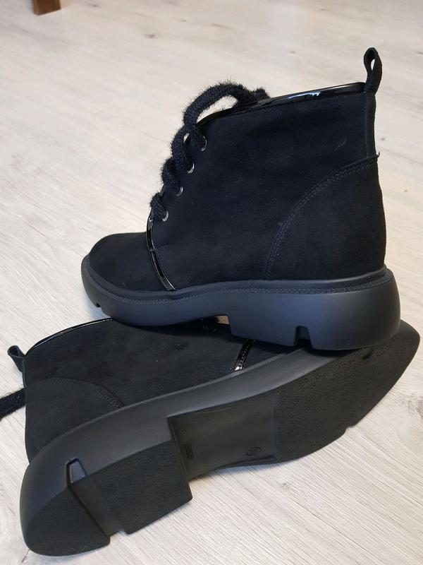 Взуття жіноче замшеве на байці - Фото 2