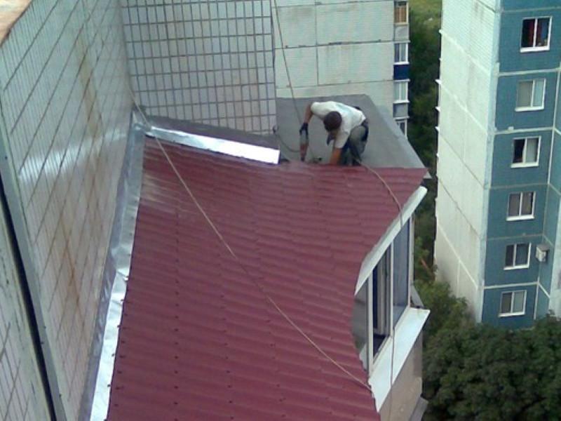 Ремонт крыш балконов,Ремонт монтаж Козырька балкона