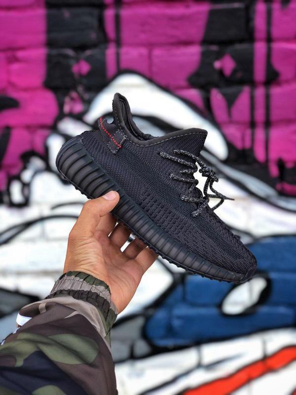 Кроссовки adidas yeezy 350  черного цвета унисекс 😍 (весна/ ле...