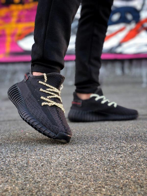 Кроссовки adidas yeezy 350  черного цвета унисекс 😍 (весна/ ле... - Фото 2