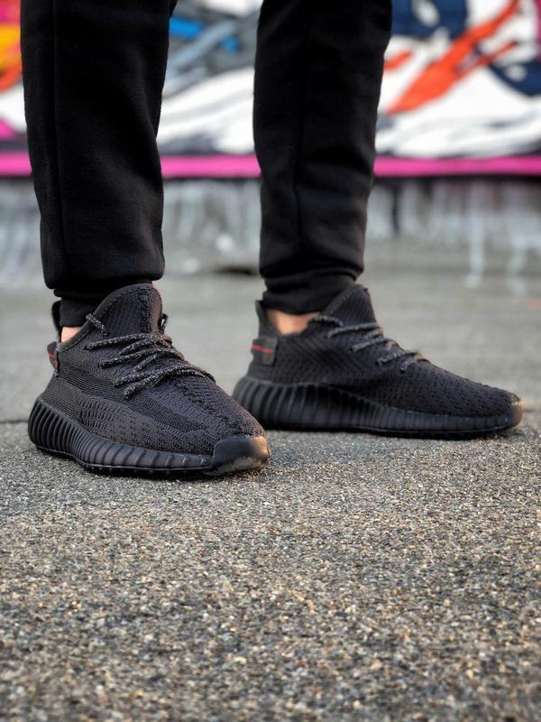 Кроссовки adidas yeezy 350  черного цвета унисекс 😍 (весна/ ле... - Фото 3