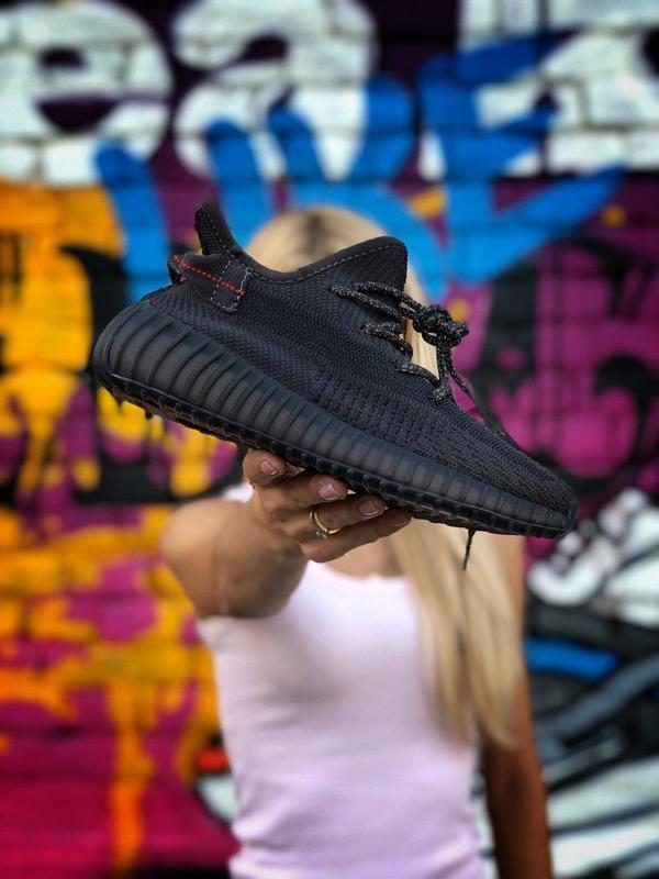 Кроссовки adidas yeezy 350  черного цвета унисекс 😍 (весна/ ле... - Фото 7