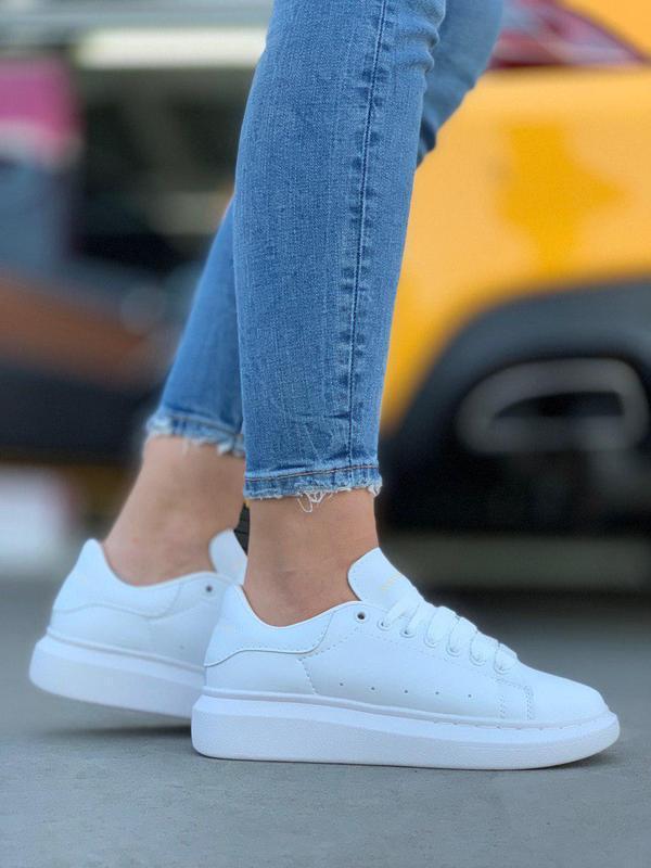 Женские кроссовки alexander mcqueen all white 😍 {весна/ лето/ ... - Фото 2