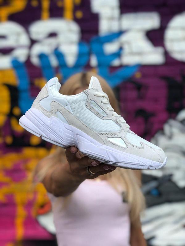 Женские кроссовки adidas falcon белого цвета 😍 (весна/ лето/ о...