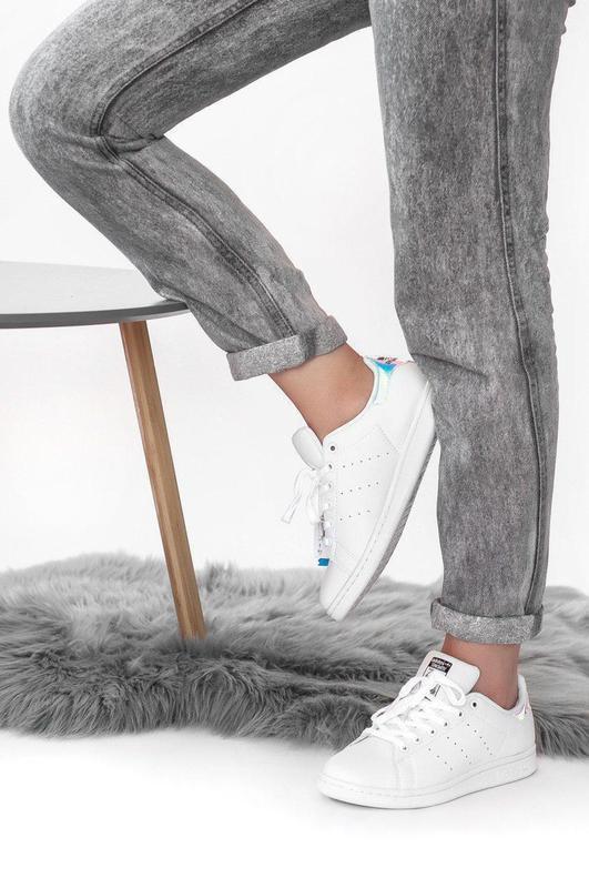 Шикарные женские кроссовки adidas stan smith white 😍 (весна/ л... - Фото 8