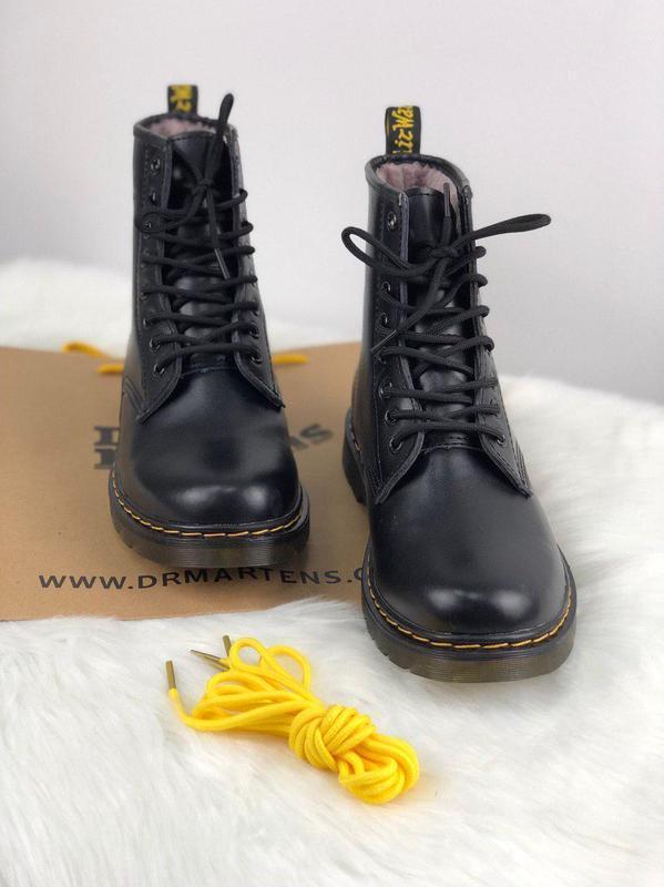 Шикарные зимние ботинки dr. martens 1460 black унисекс 😍 {с ме...
