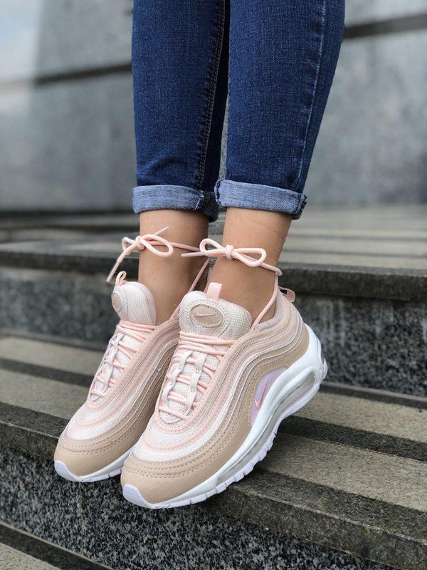 Шикарные женские кроссовки nike air max 97 pink 😍 (весна/ лето... - Фото 2
