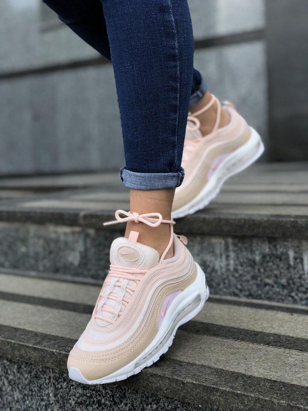 Шикарные женские кроссовки nike air max 97 pink 😍 (весна/ лето... - Фото 3