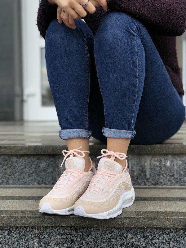 Шикарные женские кроссовки nike air max 97 pink 😍 (весна/ лето... - Фото 5
