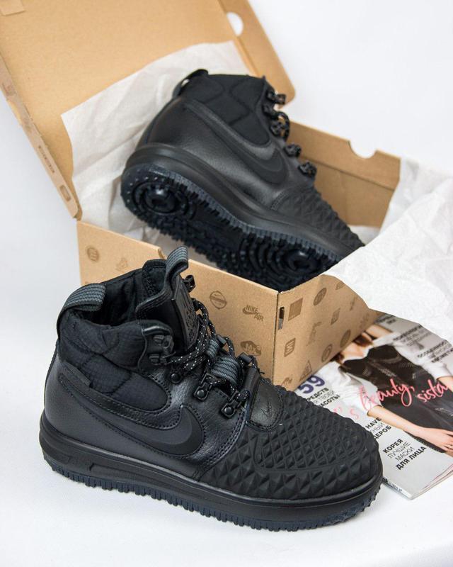 Шикарные кроссовки nike lunar force 1 duckboot black унисекс 😍...