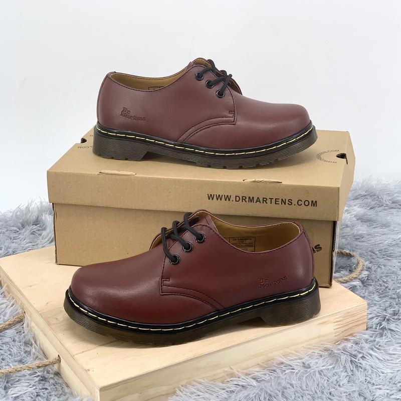Шикарные кожаные туфли dr. martens 1461 cherry (унисекс) 😍