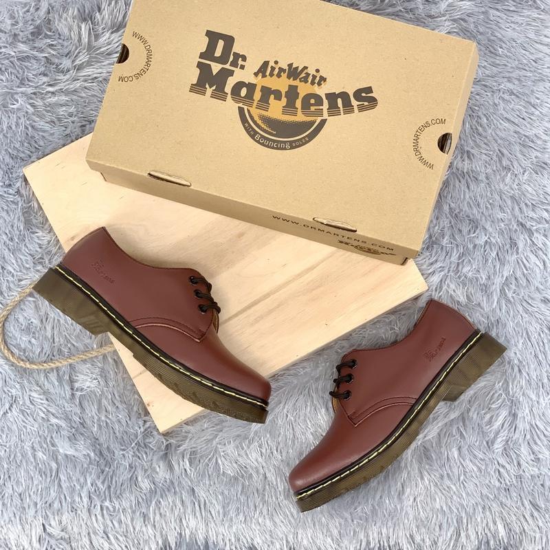 Шикарные кожаные туфли dr. martens 1461 cherry (унисекс) 😍 - Фото 2