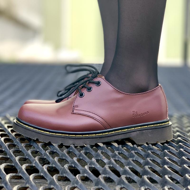 Шикарные кожаные туфли dr. martens 1461 cherry (унисекс) 😍 - Фото 4