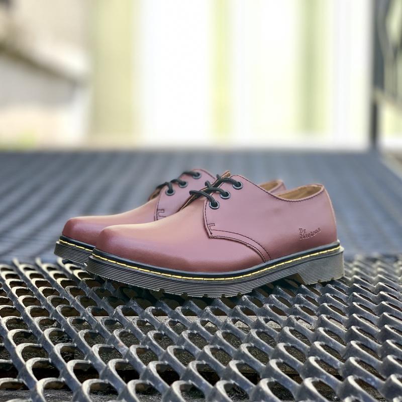 Шикарные кожаные туфли dr. martens 1461 cherry (унисекс) 😍 - Фото 6