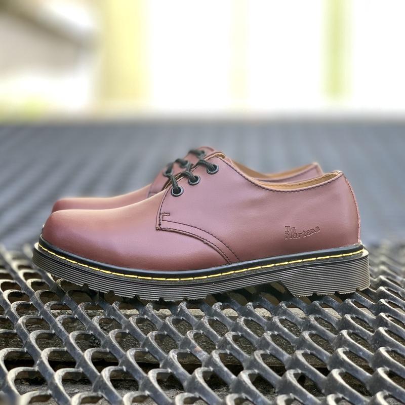 Шикарные кожаные туфли dr. martens 1461 cherry (унисекс) 😍 - Фото 7