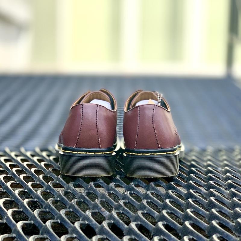 Шикарные кожаные туфли dr. martens 1461 cherry (унисекс) 😍 - Фото 9