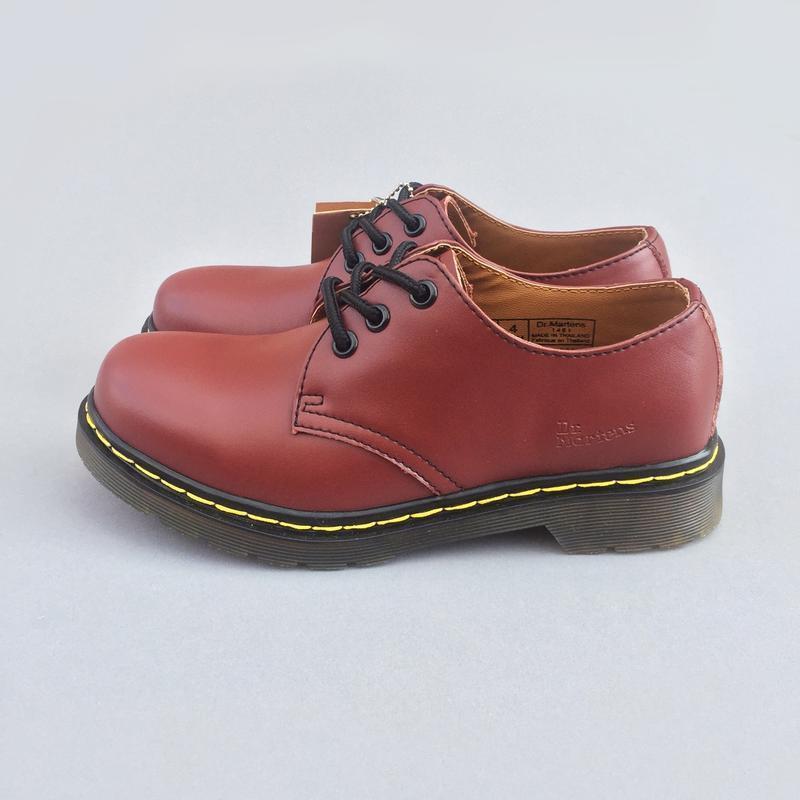 Шикарные кожаные туфли dr. martens 1461 cherry (унисекс) 😍 - Фото 10