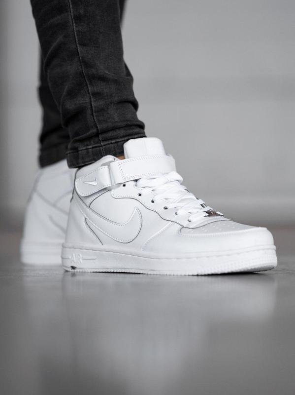 Шикарные  мужские зимние кроссовки nіke aіr force white с мехом 😍