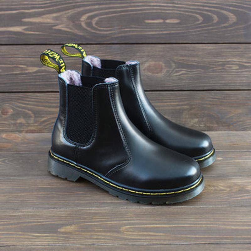 Шикарные зимние ботинки dr. martens 1460 chelsea с мехом 😍 (ун...