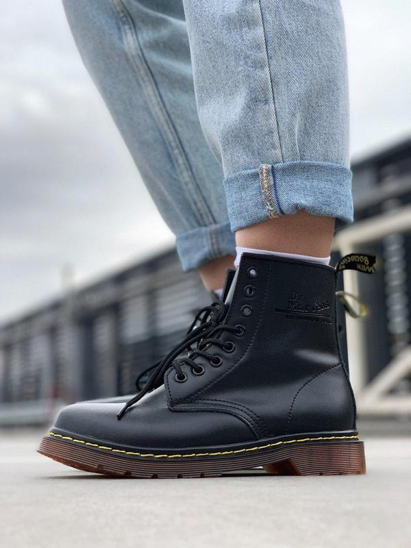 Шикарные кожаные ботинки dr. martens 1460 black унисекс 😍 (без...
